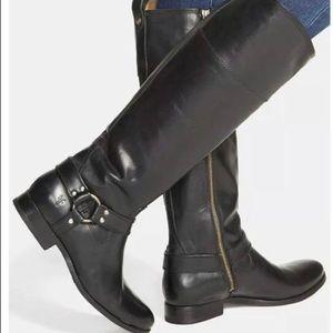 Frye Melissa Harness Inside Zipper Boots Size 7